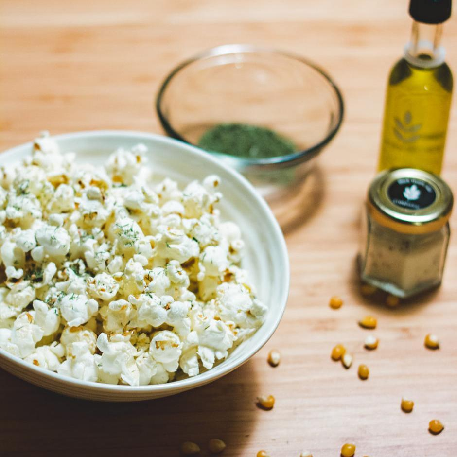 Dill popcorn recipe up on blog!