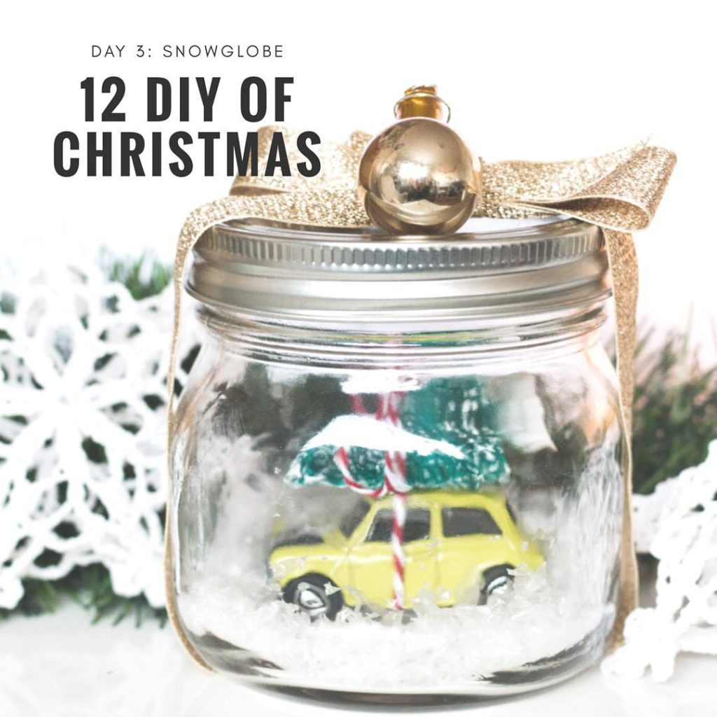 12diysofchristmas day 3 an adorable snow globe!